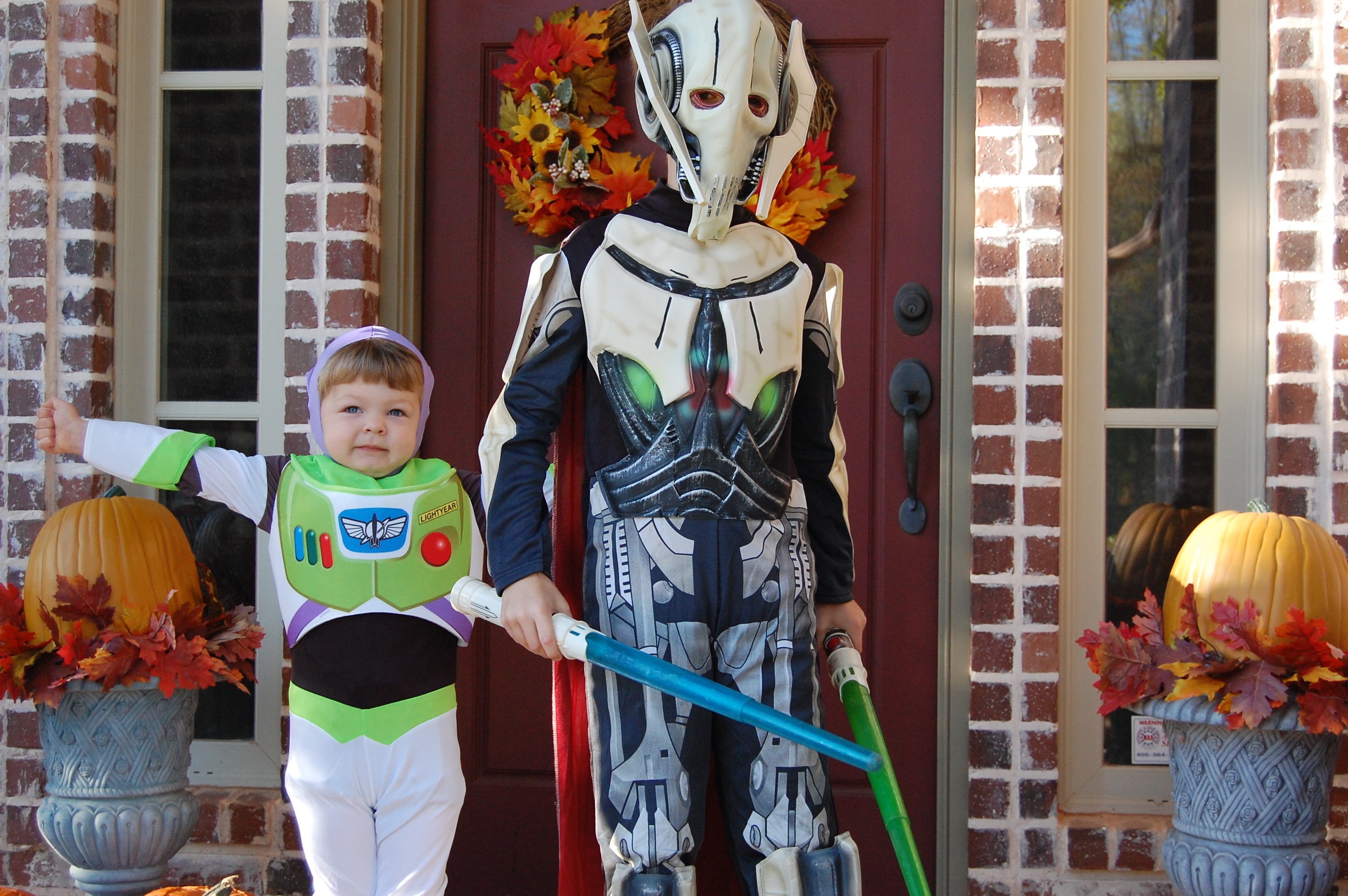 Buzz Lightyear and General Grevious