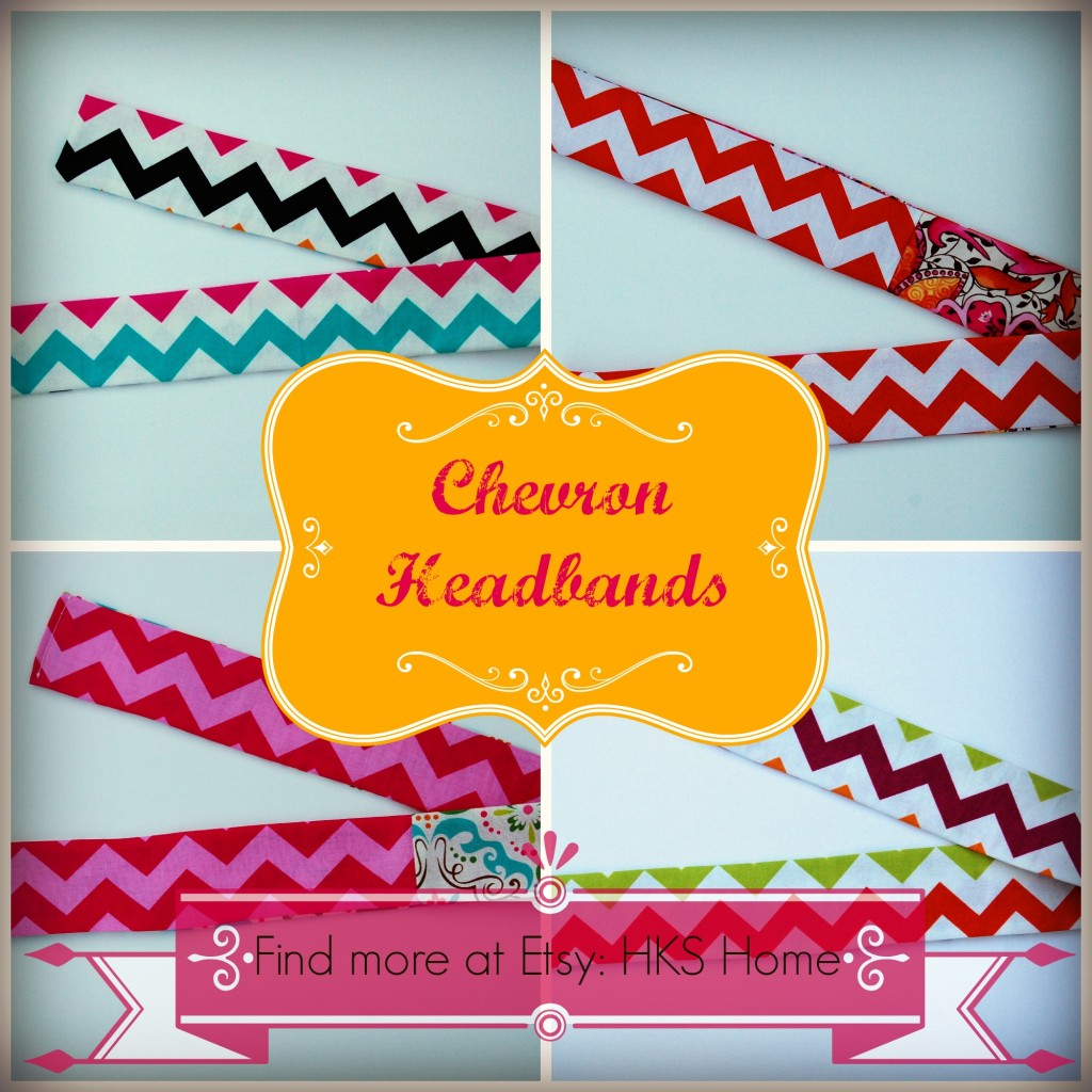 Chevron headbands on Etsy