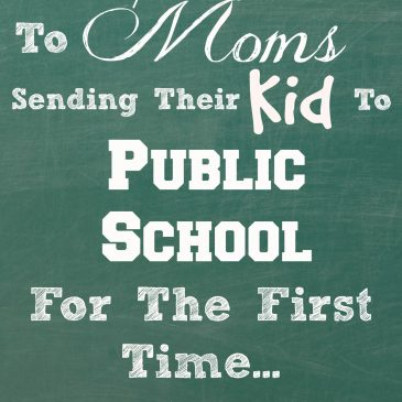 An Open Letter To Moms Sending Their Kid to School For The First Time