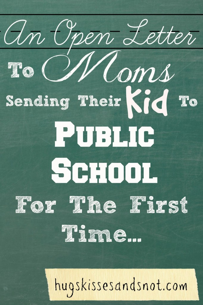 letter to moms sending their kid to school