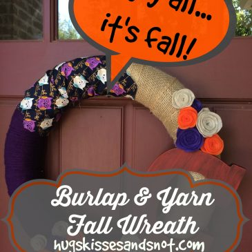 Burlap and Yarn Fall Wreath