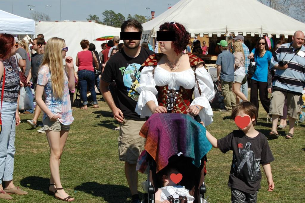 Medieval Fair 2015 nerd family