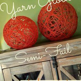 Yarn Globe Semi-Fail