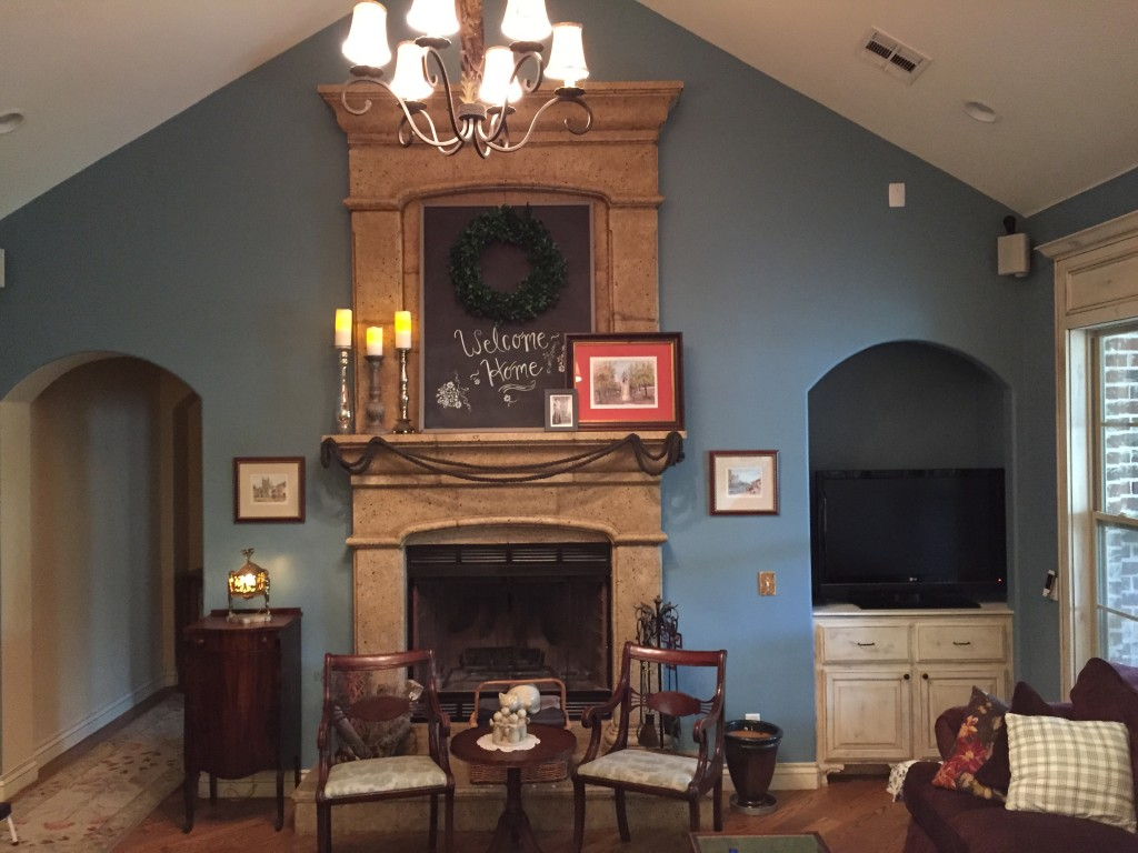 chalkboard mantel decor