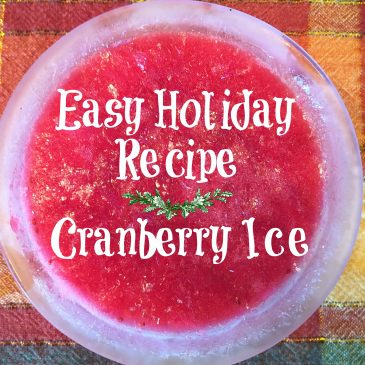 Easy Holiday Recipe – Cranberry Ice