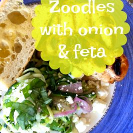 Zoodles with Onions and Feta and Fighting Childhood Hunger