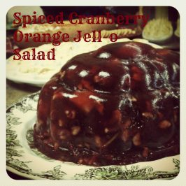 Cranberry Orange Spiced Jello salad