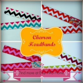 Chevron Headbands and Valentine's Day decoration