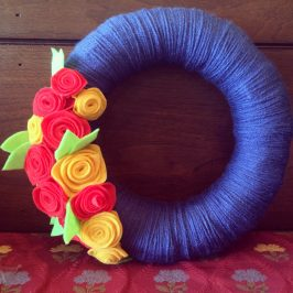 Spring Yarn Wreath x Two