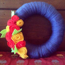 Spring Yarn Wreath x Two