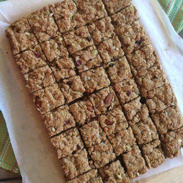Trail Mix Oatmeal Bars