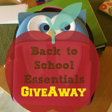 Back to School Essentials Giveaway
