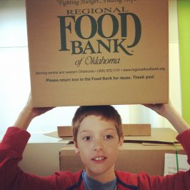 Volunteering at the Food Bank