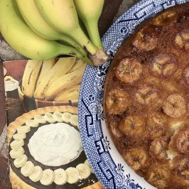 Banana Upside Down Cake and the Oklahoma Teacher Walk Out