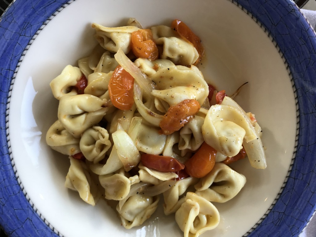 grilled onion and tomato tortellini
