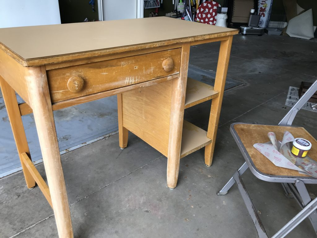 retro school desk