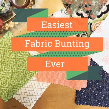 Easiest Fabric Bunting Ever and Outdoor Movie Night